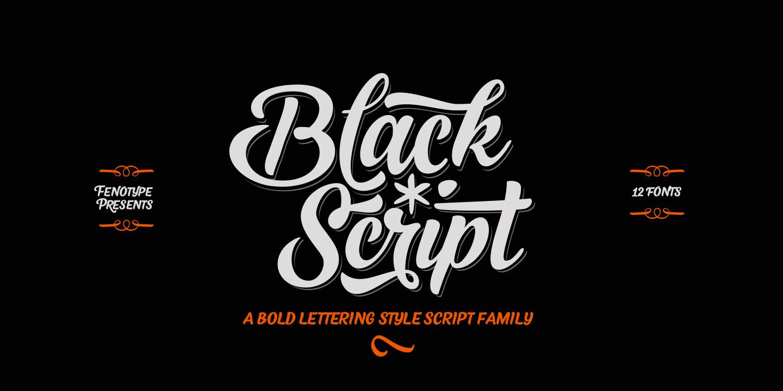 Fontspring  Black Script Fonts by Fenotype