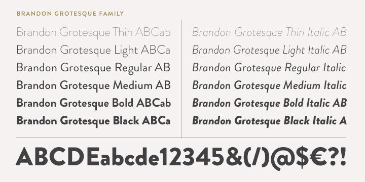 Brandon Grotesque Fonts • Fontspring