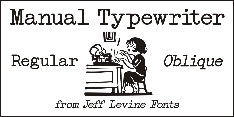 Fontspring » Manual Typewriter JNL Fonts by Jeff Levine Fonts