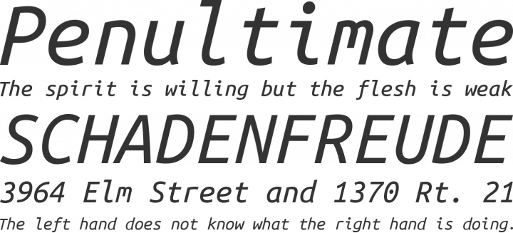 Ubuntu Mono font family