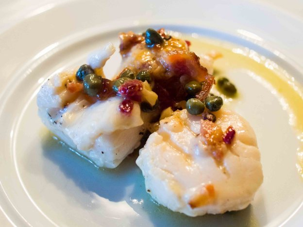 Fire-Roasted Scallops Piccata