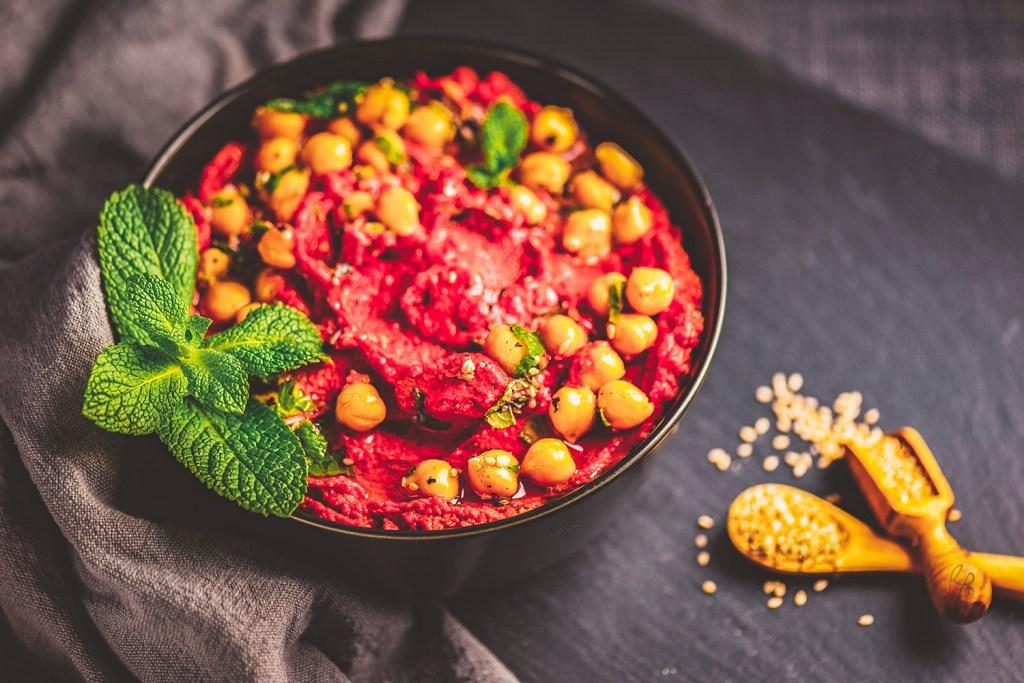Rote Bete Hummus – Serviervorschlag :)