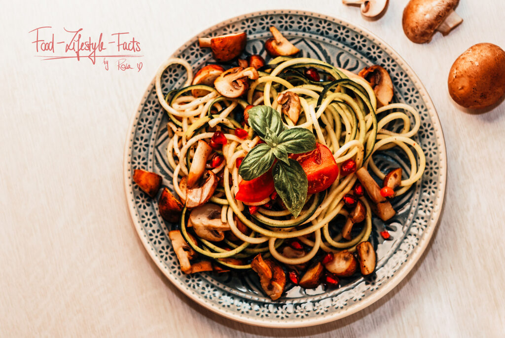 Zoodles are pasta made out of zucchini – low carb and really delicious!