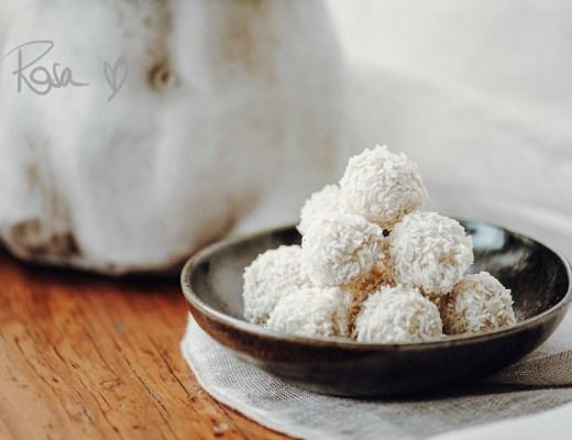 Vegane Raffaelos aka Kokosbällchen, einfach und super lecker – Rezept