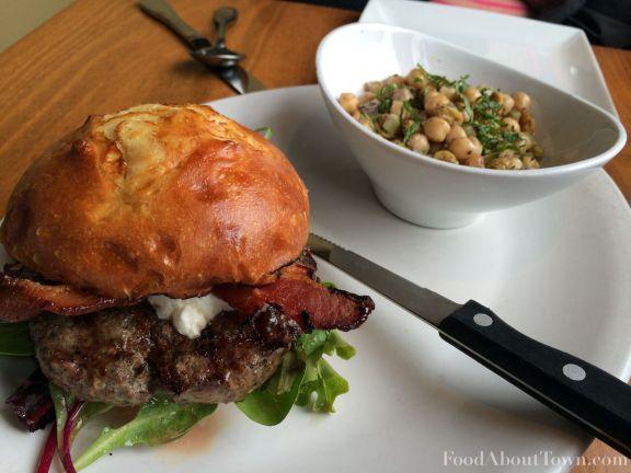 Matt's Lamb Burger and Chickpea Salad