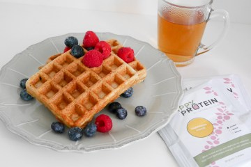 Eiwitrijke wafels met Happy Protein | Foodaholic.nl