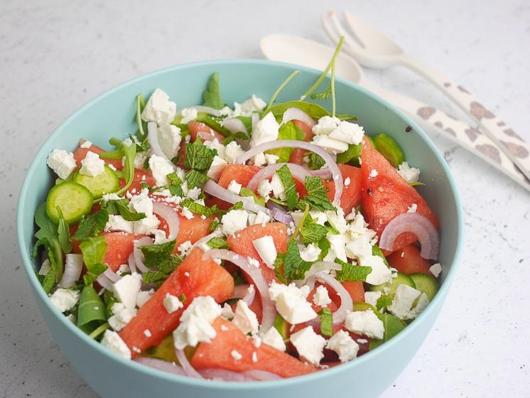 watermeloen feta salade | Foodaholic.nl