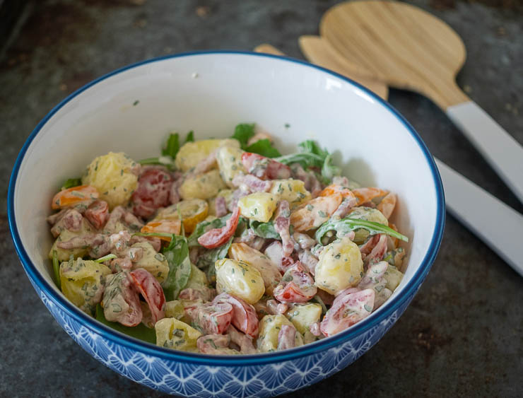 Krieltjessalade met spekjes | Foodaholic.nl