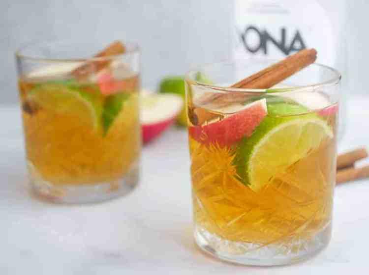 Mocktail met appel, kaneel en limoen | Foodaholic.nl