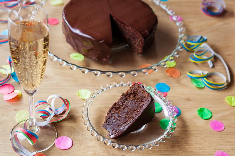 Chocolade Amandeltaart