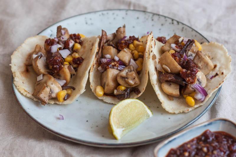 taco's met paddenstoelen
