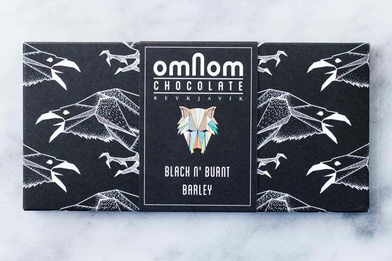 Omnom Black N' Burnt Barley chocoladereep