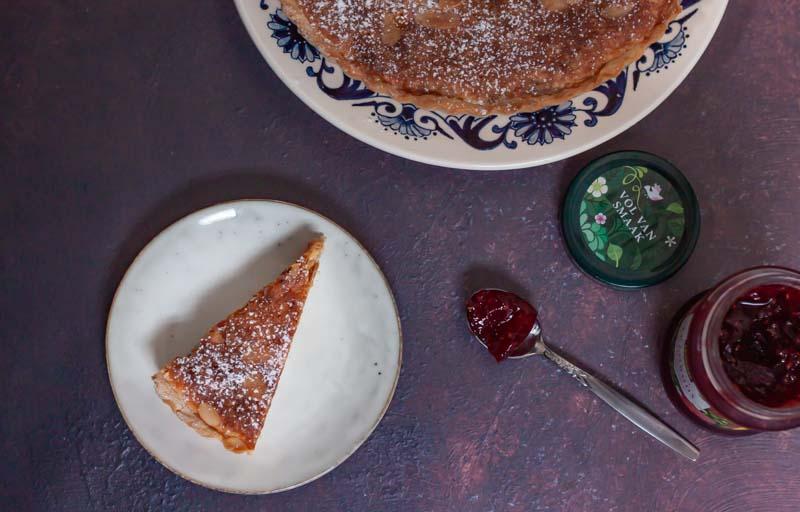 Amandel Bakewell taart