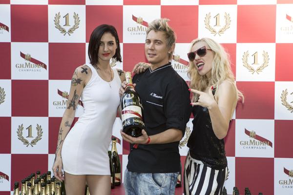 035Chef Andrea Mainardi con Ema e Ania - Mumm_Brunch_Clubbing
