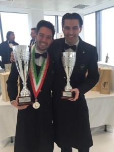 AIS Toscana ai vertici della sommellerie italiana - Andrea Galanti Miglior Sommelier d'Italia 2015 con il secondo classificato Massimo Tortora