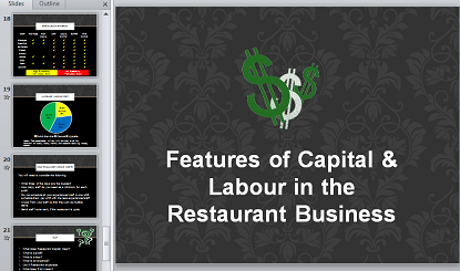 Capital and Labour Cost