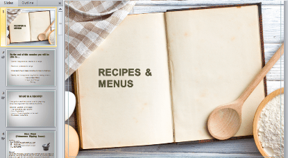 Recipes & Menus