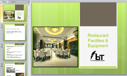 Restaurant Facilities & Equipment
