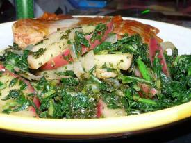 Collards with Apples