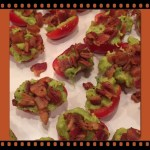 Hors d'oeuvre of Cherry tomatoes, avocado and bacon