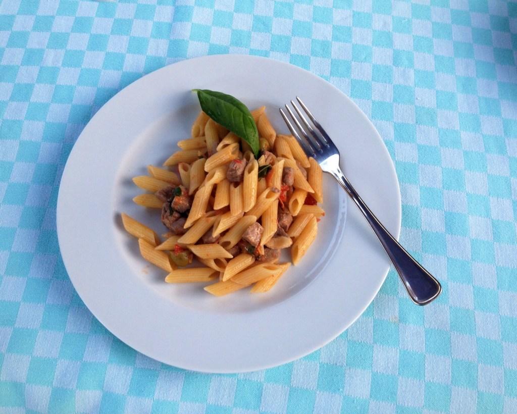 Recipe 4: Pasta with fresh tuna and slivered almonds