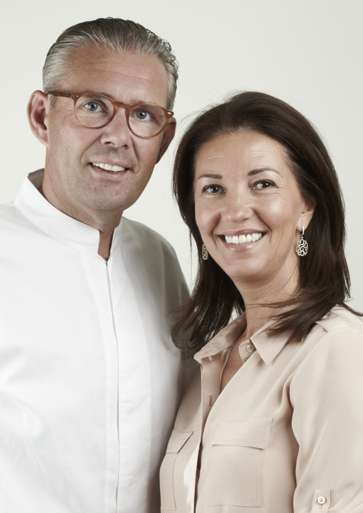 Chef Peter Goossens and wife Lieve