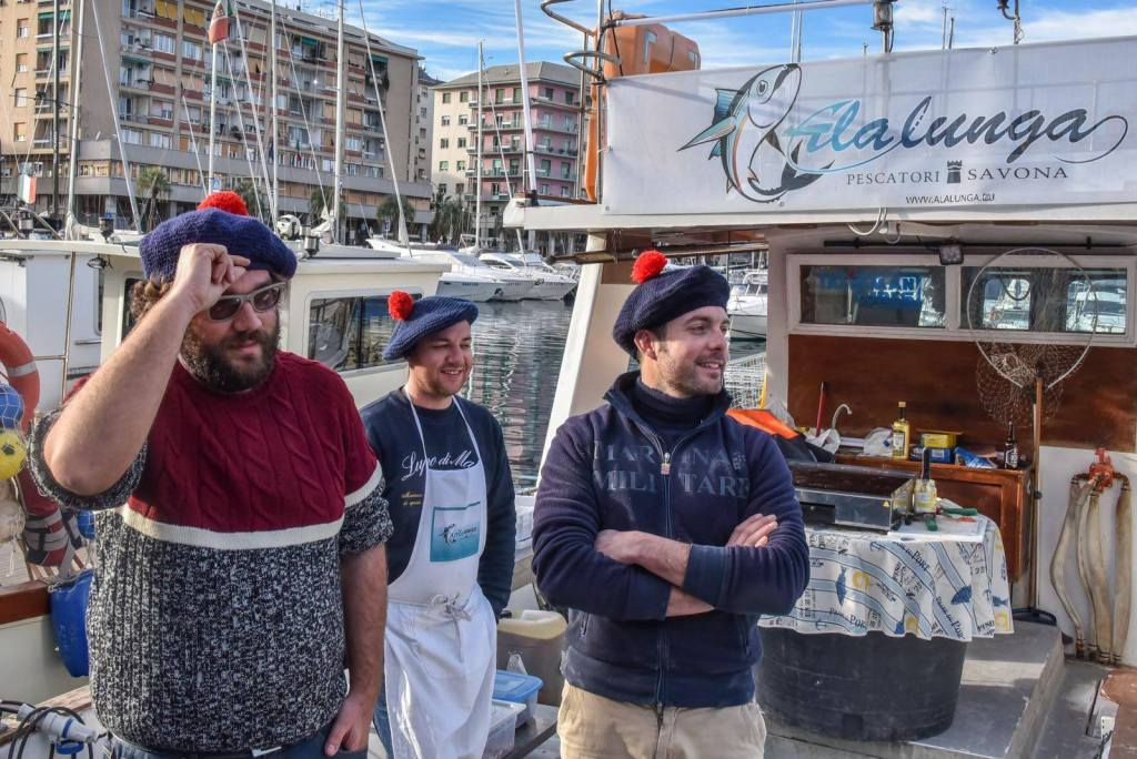 From the sea to the plate: Three Savona fishermen cook their morning catch