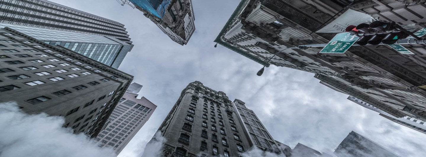 The 5th Avenue skyscrapers from a frog's perspective.