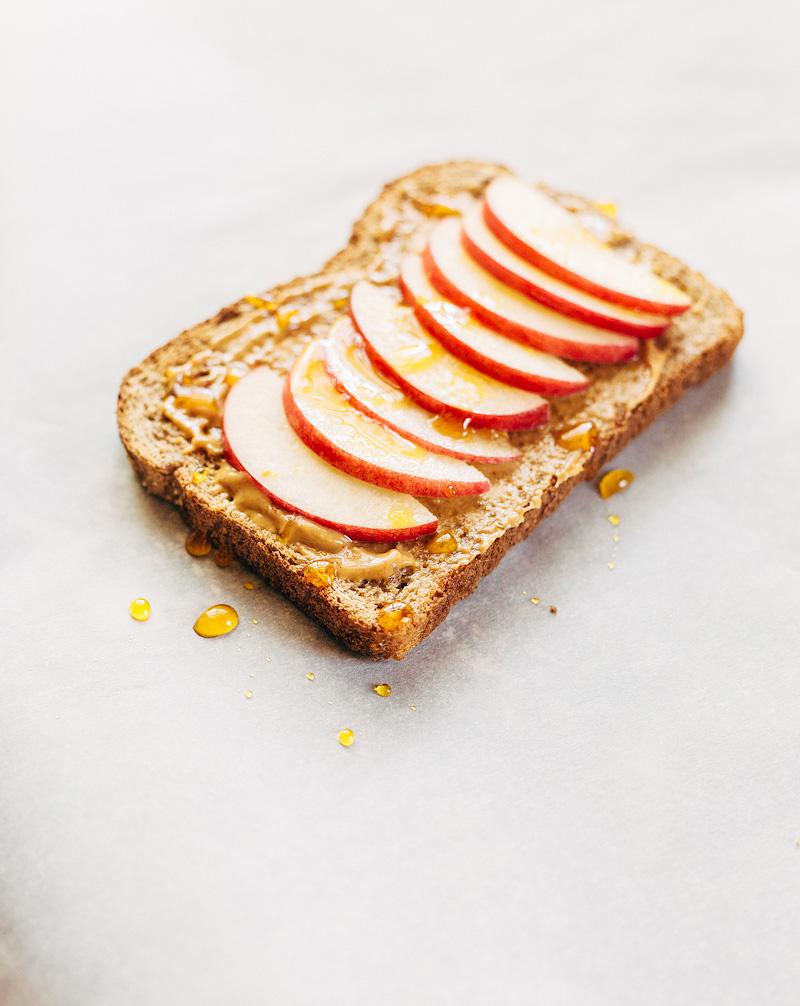Apple And Honey Peanut Butter Toast
