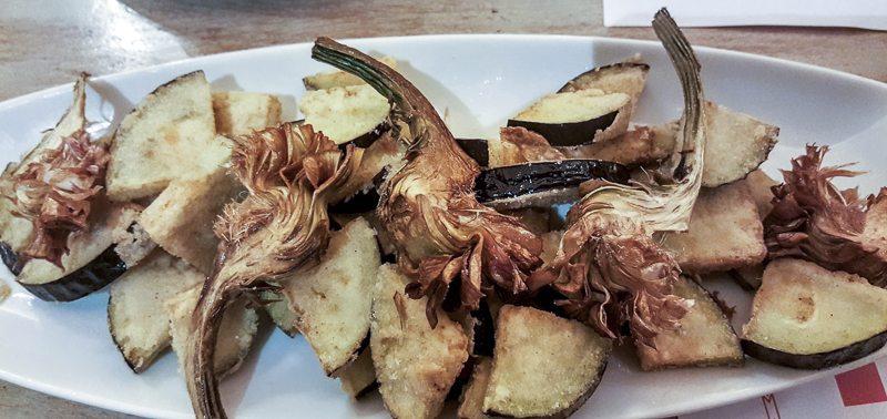 Artichokes and aubergines El Guindilla