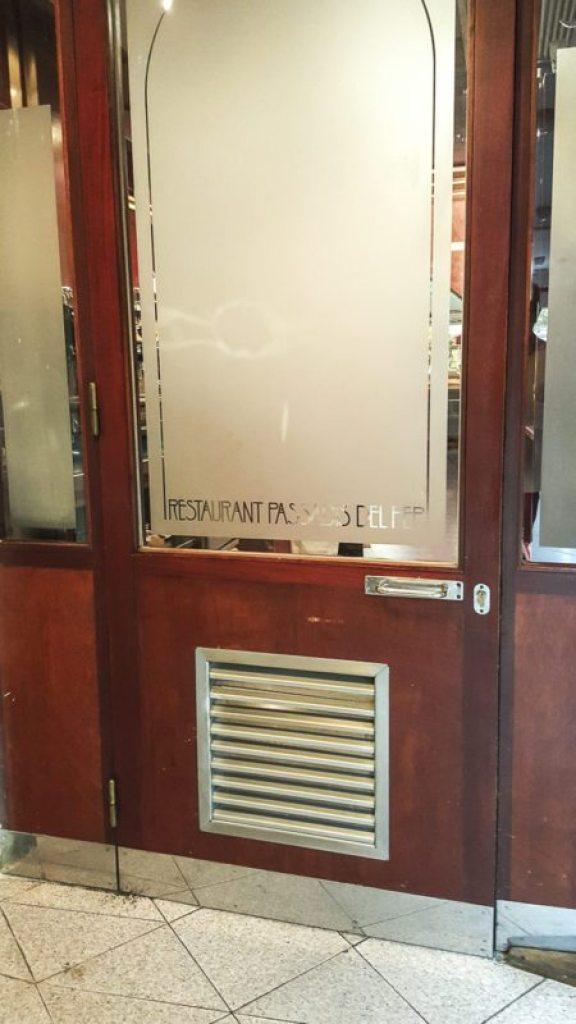 El Passadis del Pep door