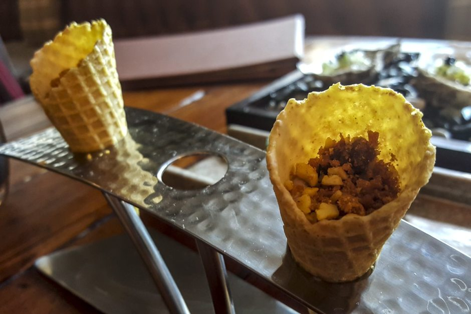 Chicken liver parfair cones House of Tides