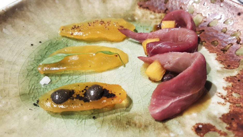 Pigeon with persimmon, El Celler de Can Roca