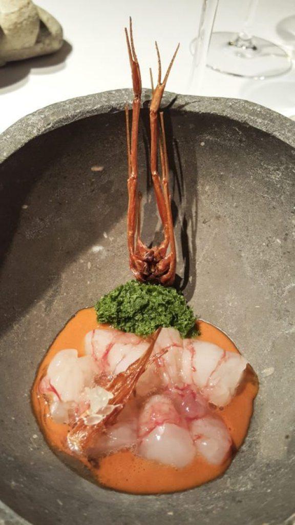 Prawn marinated with rice vinegar El Celler de Can Roca