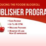 Foodie Blogroll: Publisher Program