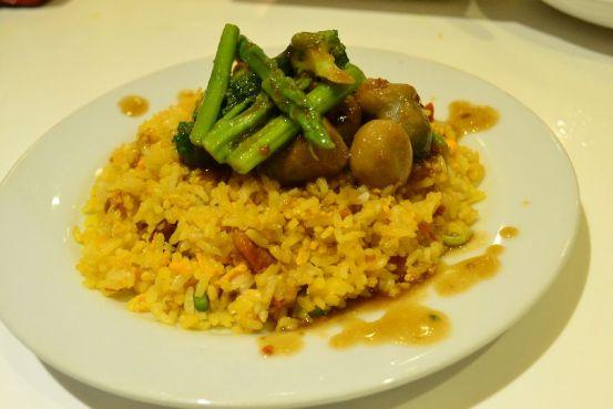 mandarin tea garden's yang chow fried rice