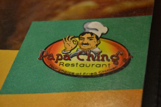 Papa Ching's Restaurant - Menu Cover