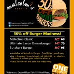 Malcolm's 50% Off Burger Madness!
