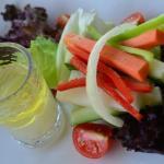 Garden Salad with Coconut Vinegar Dressing