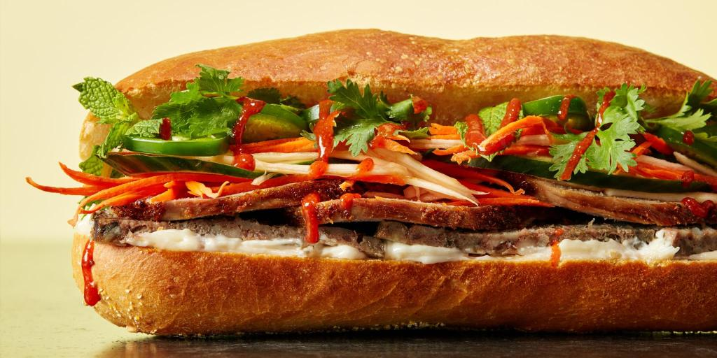 Popular street food - BanhMi, Vietnam