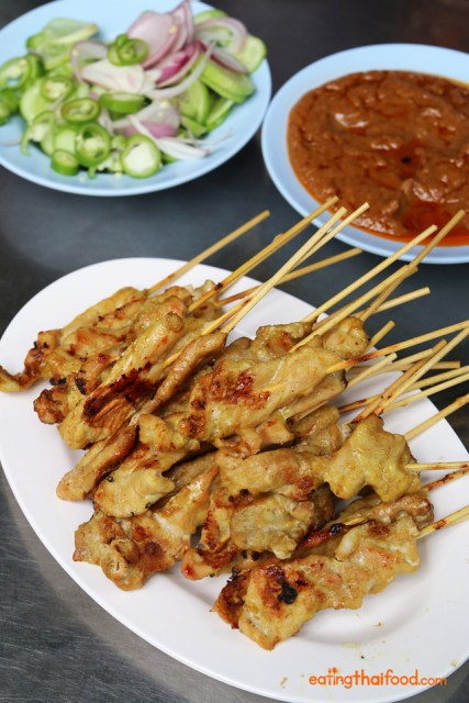 Popular street food - Pork Satay, Bangkok