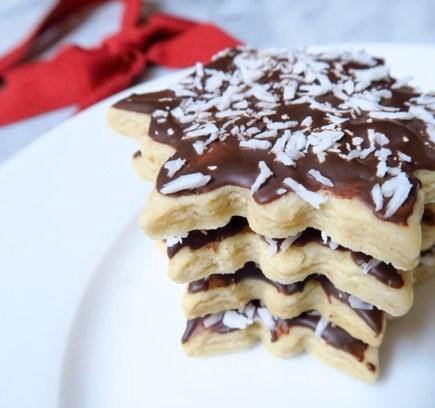 Chocolate Coconut Sugar Cookies