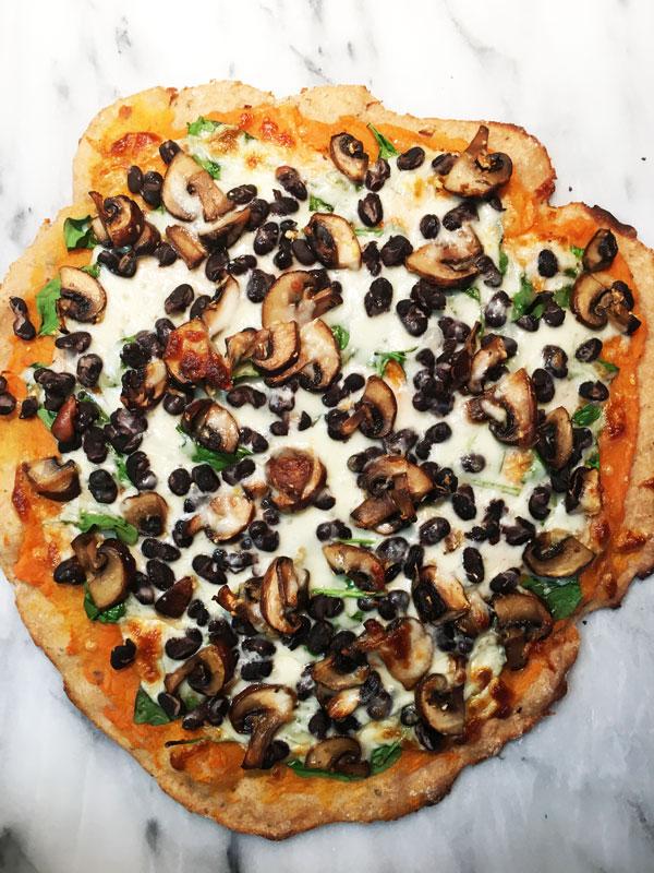 Sweet Potato Black Bean Pizza