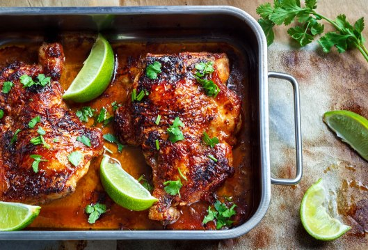 Sweet-Spicy-Roasted-Chicken-Legs