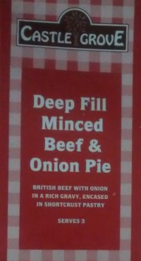 Lidl Castle Grove Minced Beef Onion Pie Packet