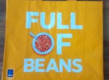 Aldi Reusable Shopping Bag Full Beans