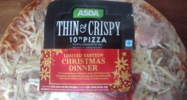 Asda Christmas Dinner Pizza Food Cheats