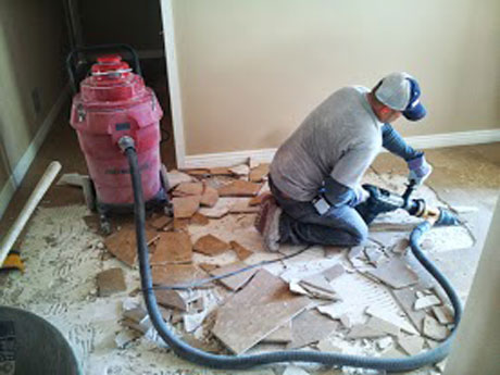 tile removal minus dust and hassles