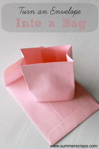Paper Crafts Turn An Envelope Into A Bag Tutorial Food Crafts And Family