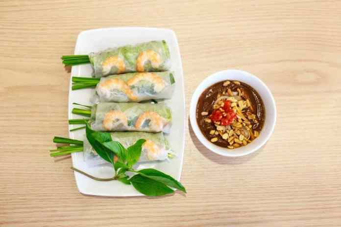 Shrimp Spring Roll Salad {Gluten-Free, Dairy-Free}